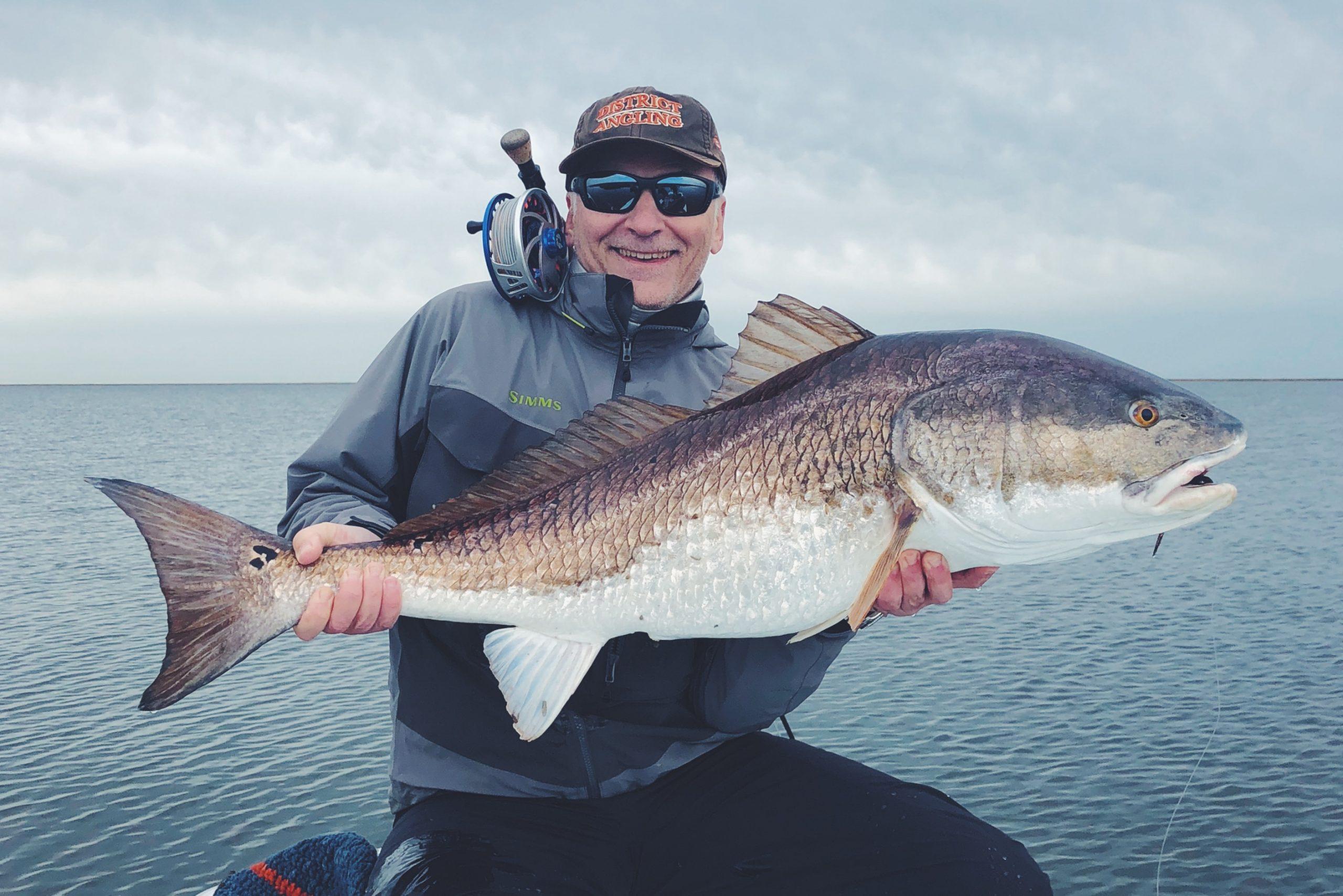 Giant Redfish on Fly Sightfish NC